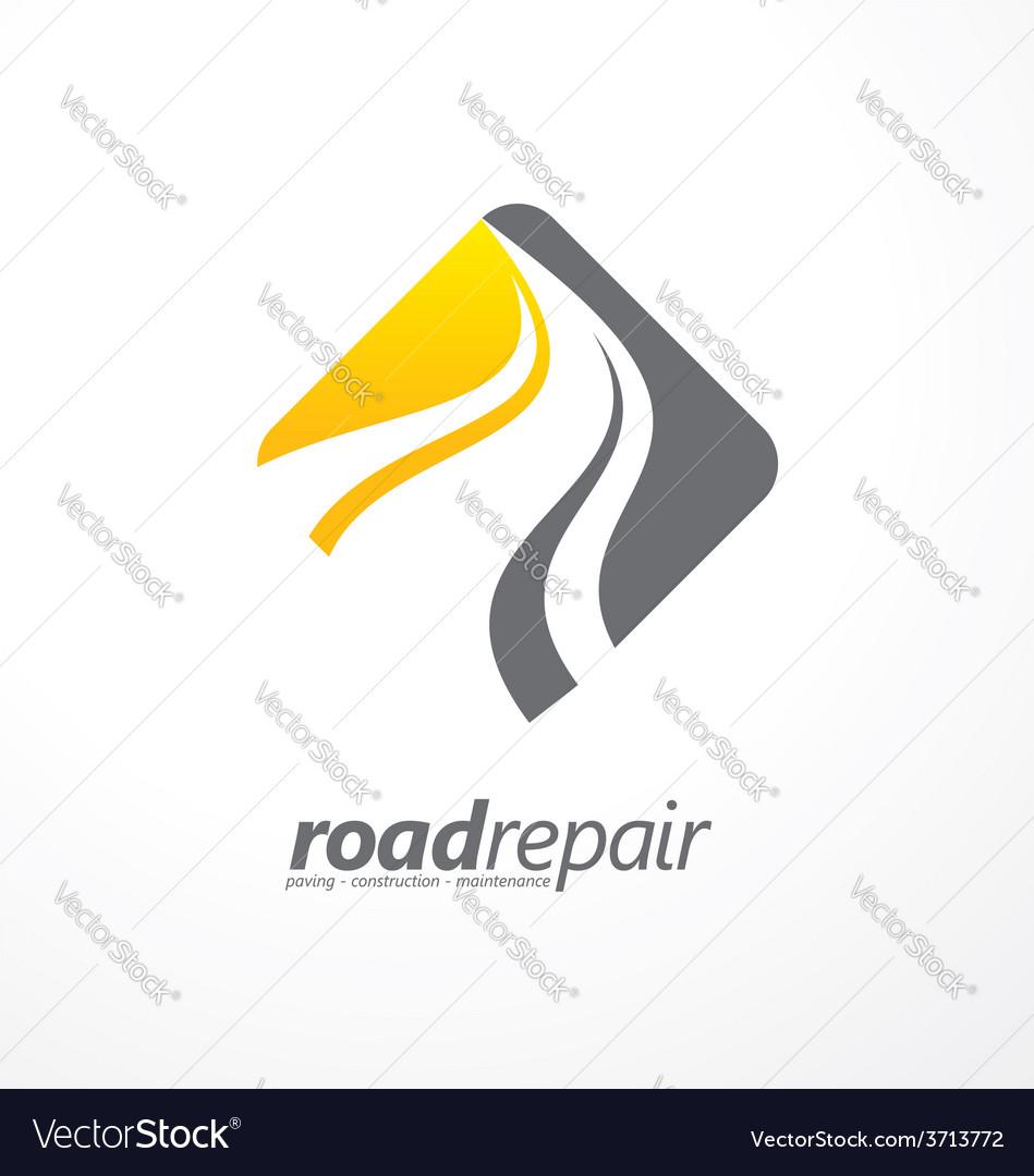 Road maintenance creative sign concept