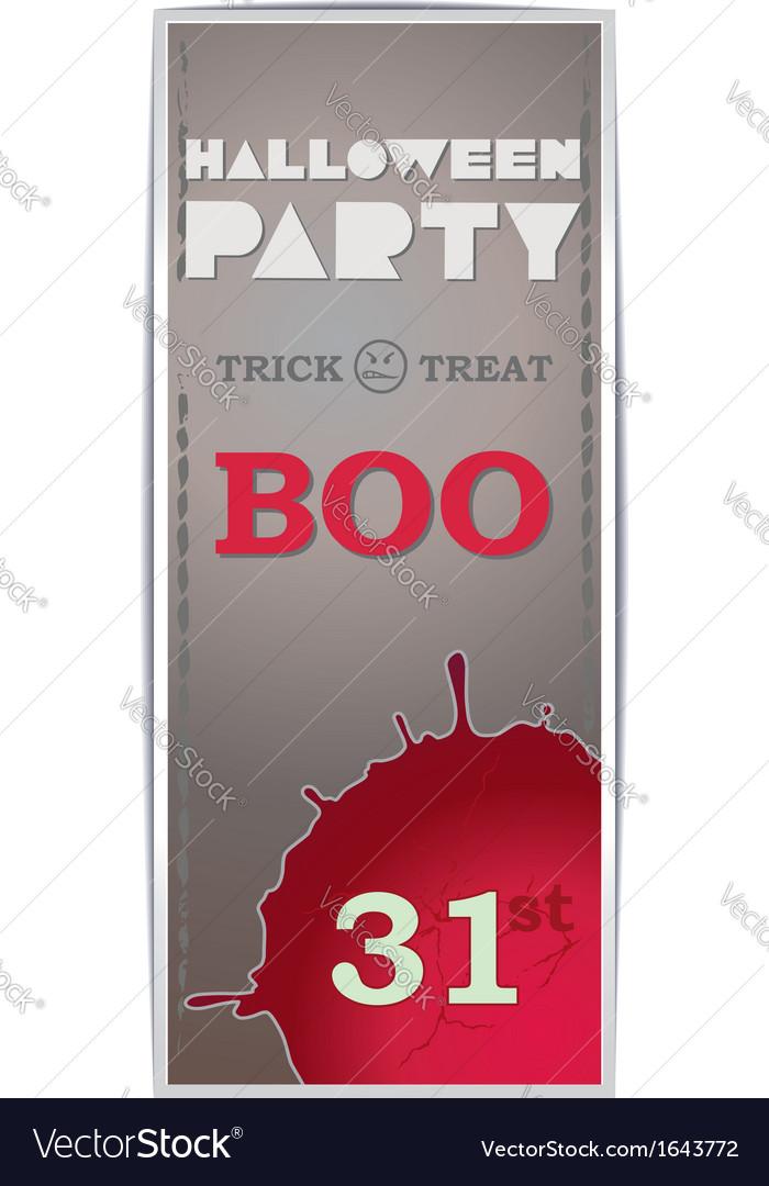 the grey vertical flyer halloween royalty free vector image