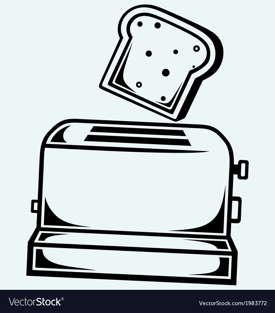 Toast popping out of a toaster