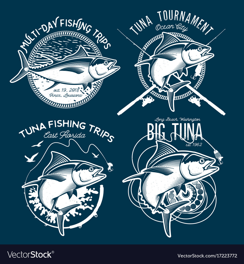 Tuna logos sport fishing club logos
