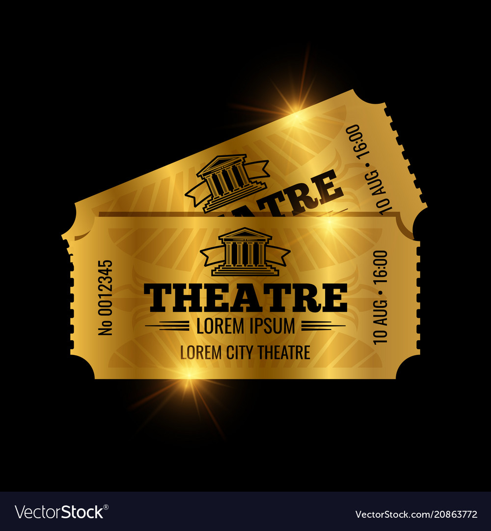 Vintage theatre tickets template