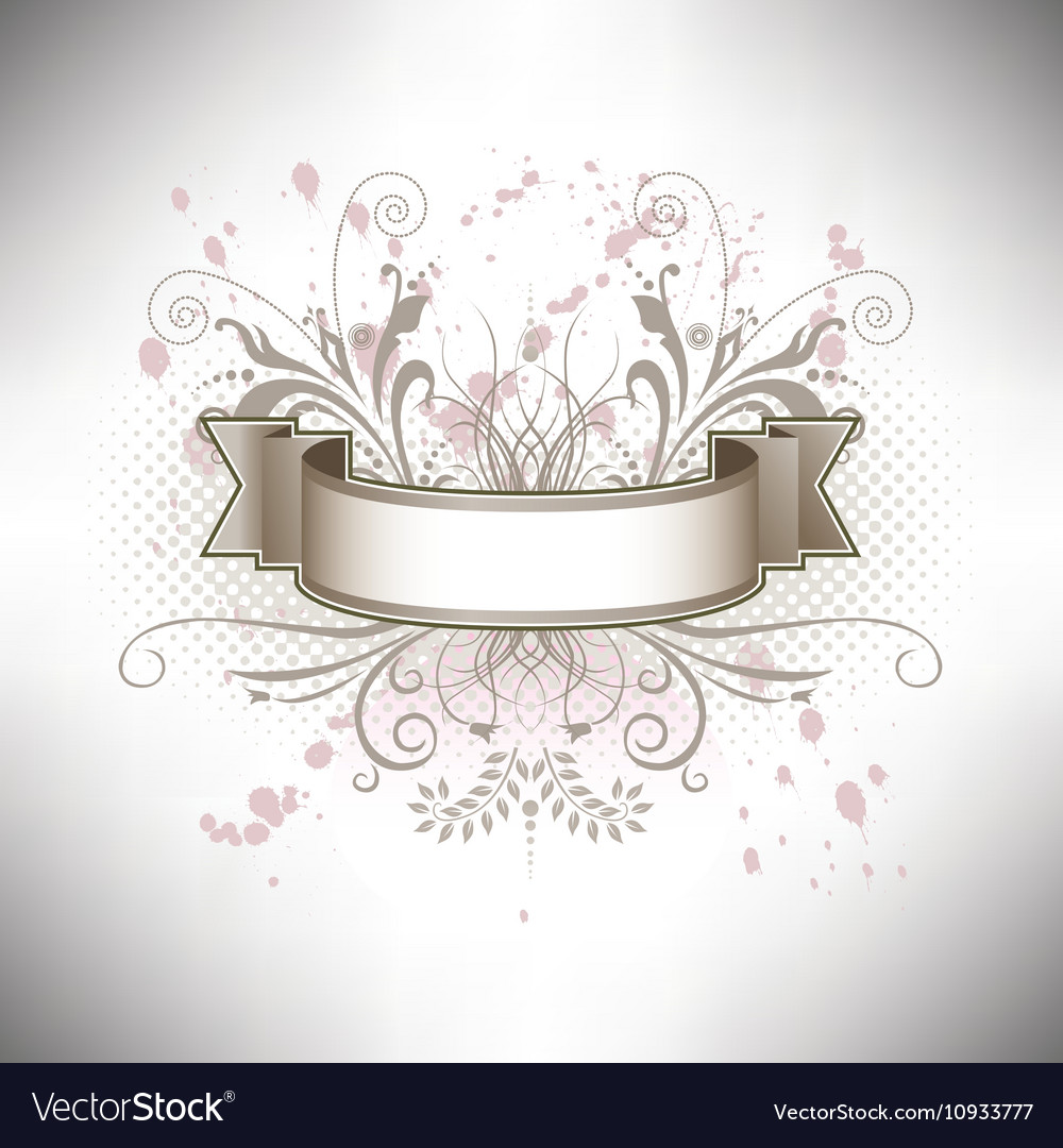 a floral banner in subdued colors royalty free vector image a floral banner in subdued colors royalty free vector image