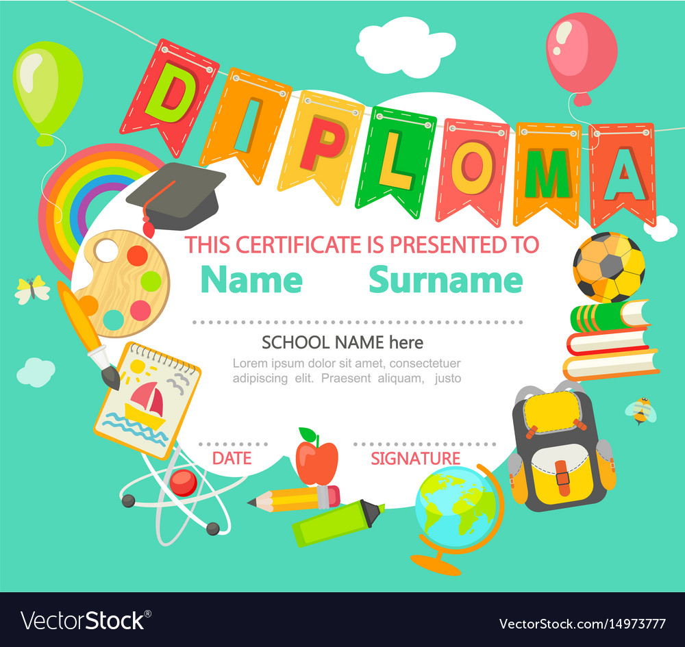 Diploma certificate background