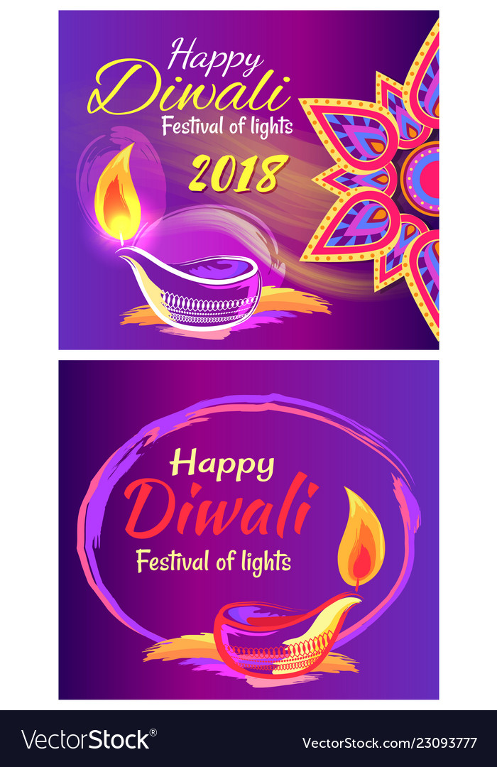 Happy diwali festival of lights 2018 poster