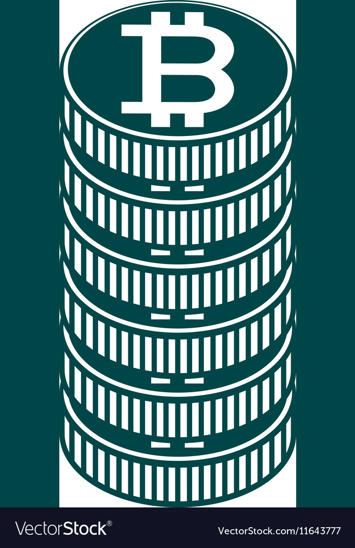 Stack Of Coin And Currency Symbol Of Baht Thailand