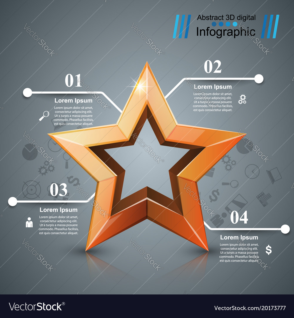 Star of the winner business infographic