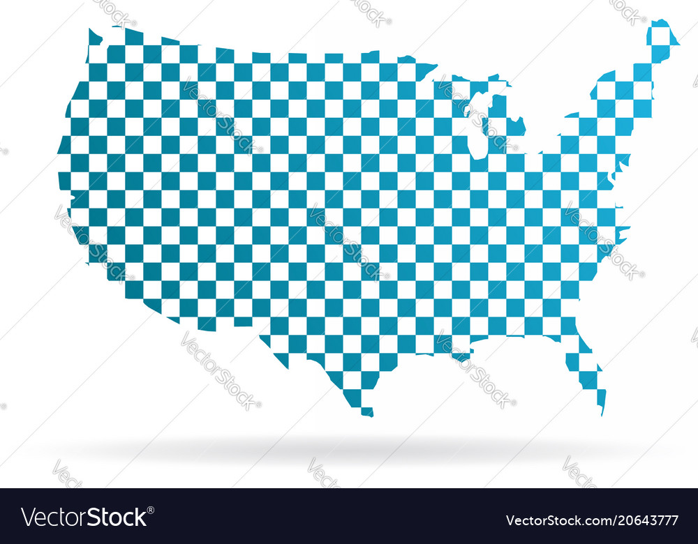 Usa united states chequered map graphic