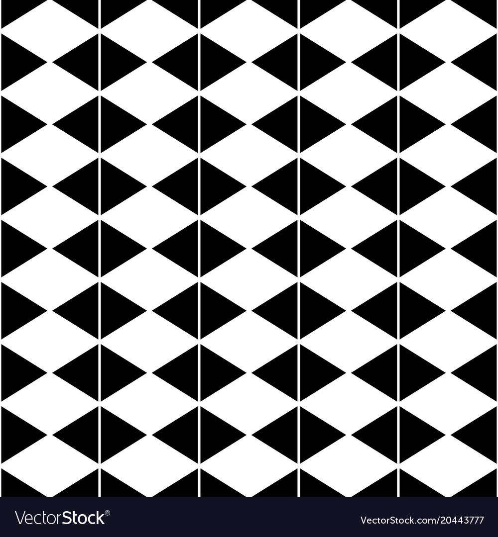 White diamond and black triangle seamless