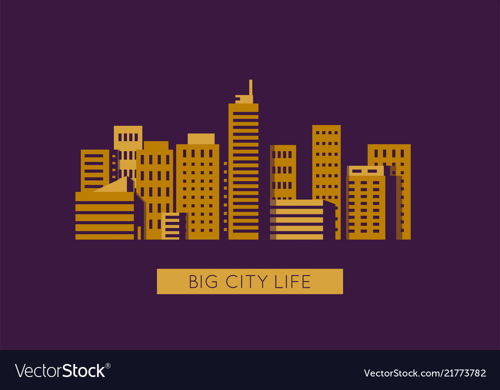 City with golden buildings