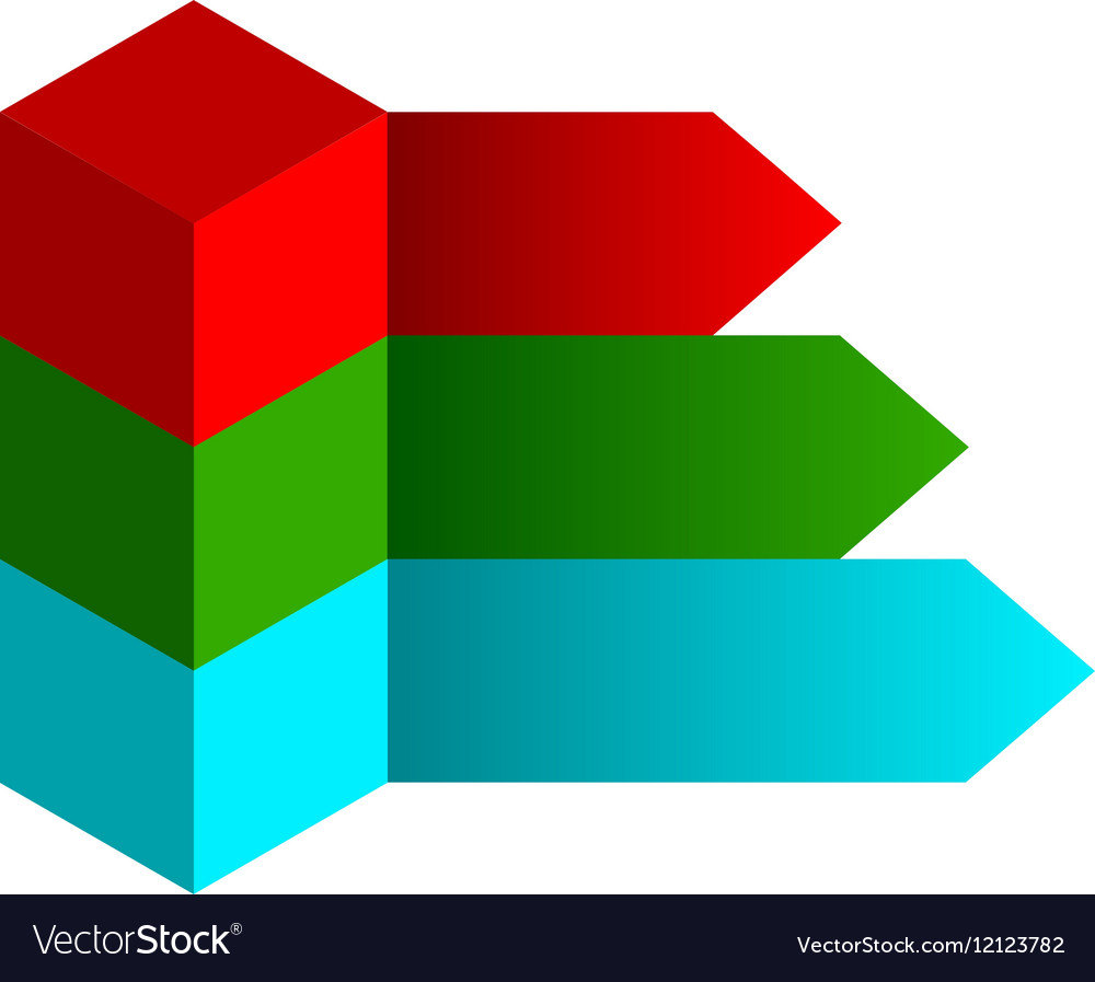 Cube infographics options banner vector image