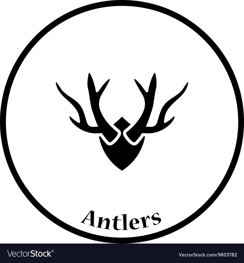 Deers antlers icon