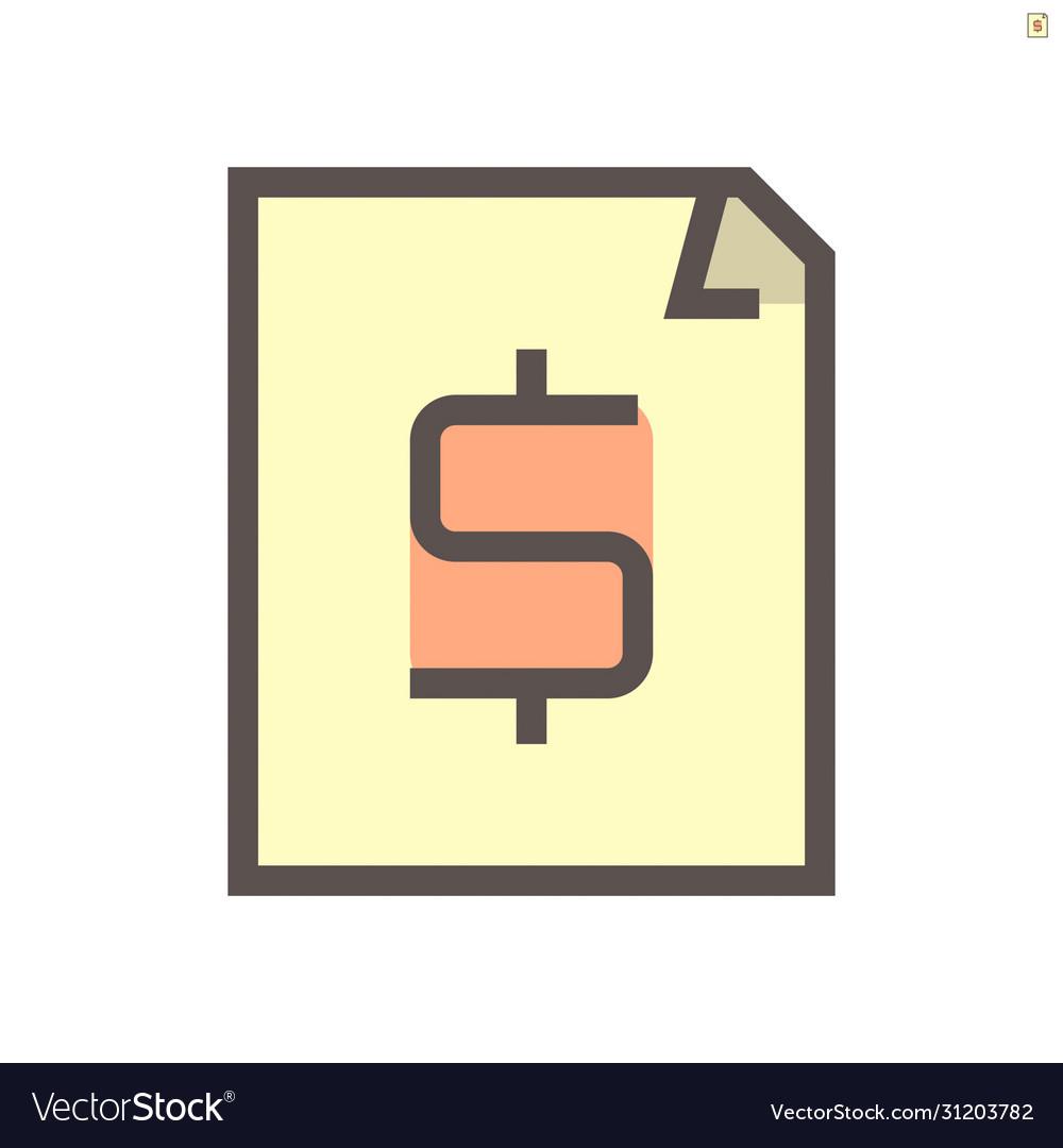 Financial document icon design 48x48 pixel
