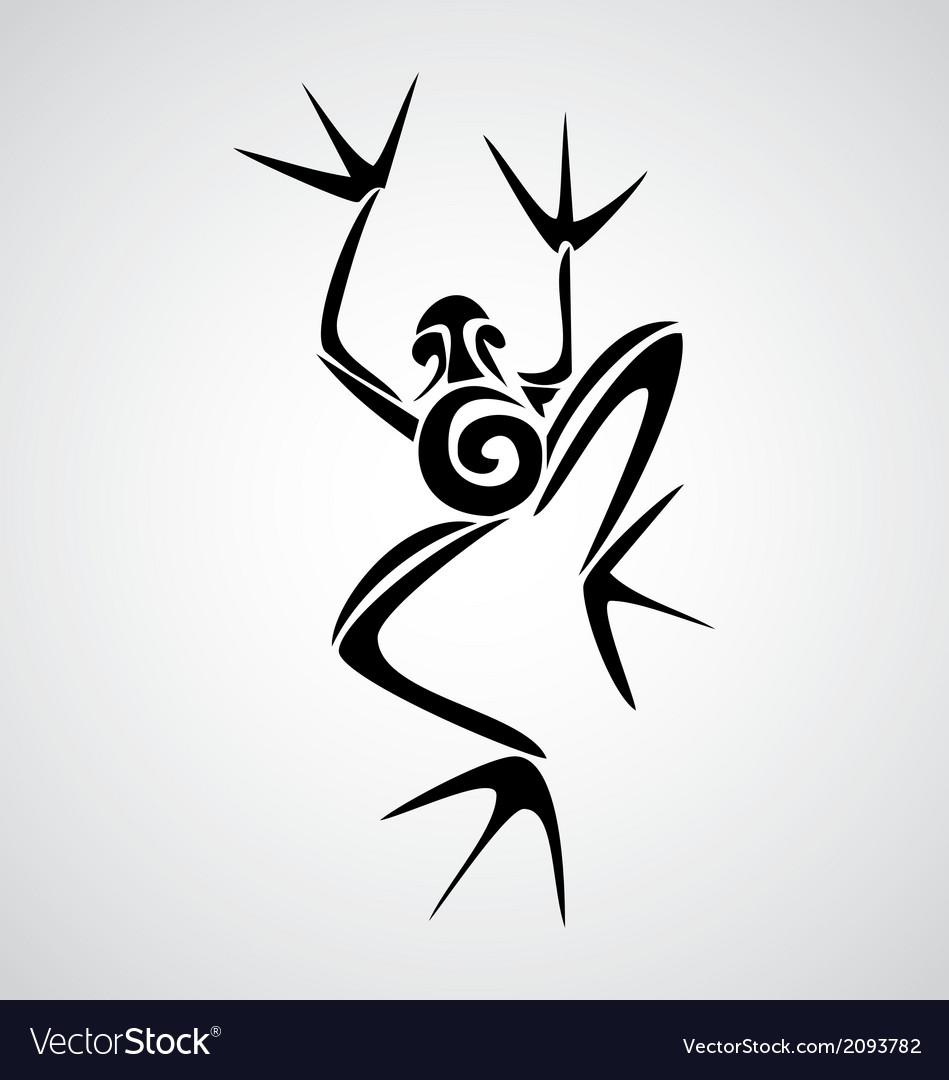 frog tribal royalty free vector image vectorstock rh vectorstock com Tribal Tiger Tribal Hummingbird