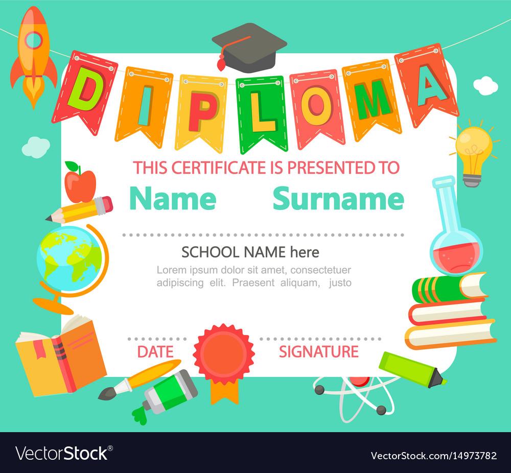 Kids diploma certificate
