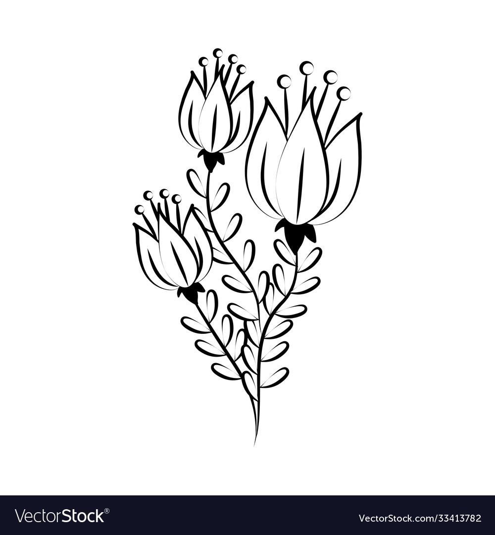 Minimalist tattoo flowers leaves delicate herb