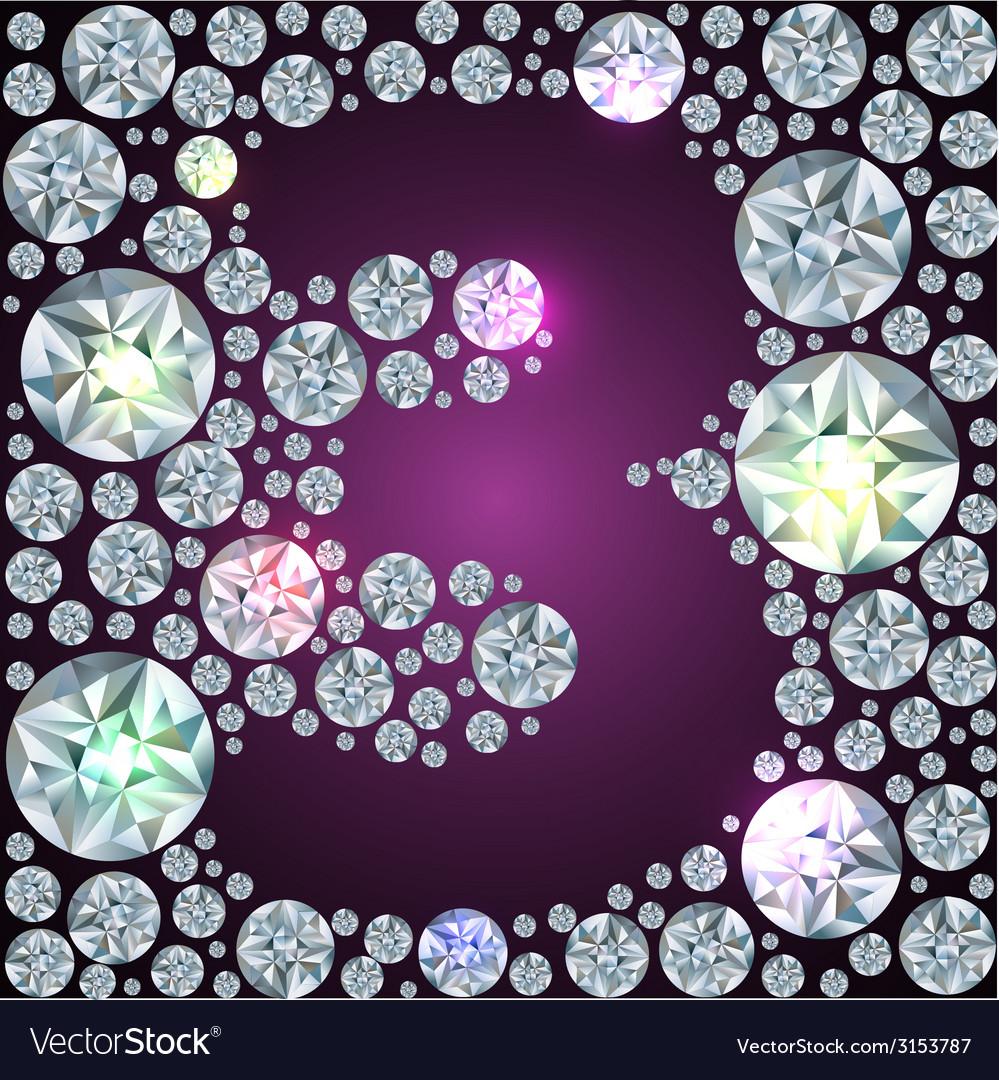 Diamond number three vector image