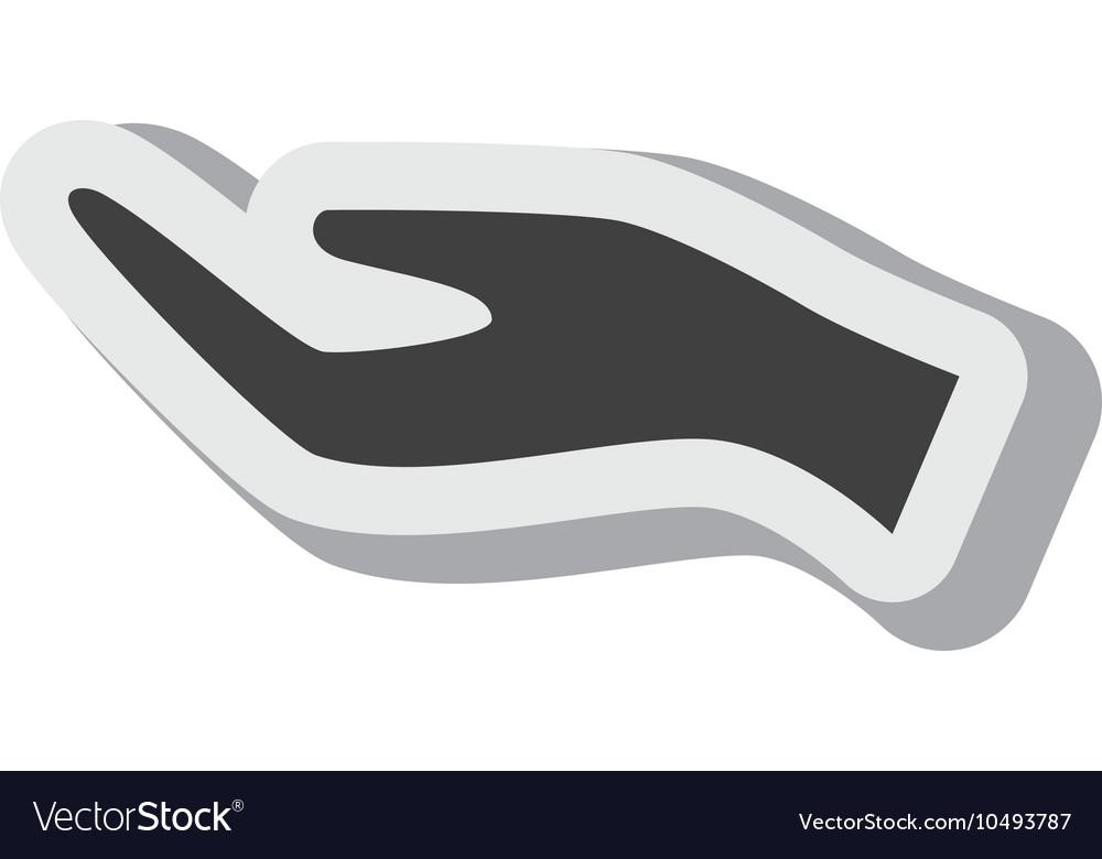 Hand hold person silhouette design