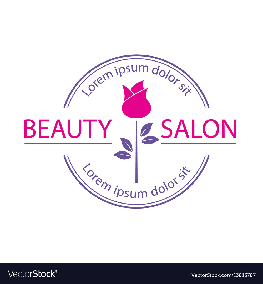 Logo template label or badge for beauty vector image