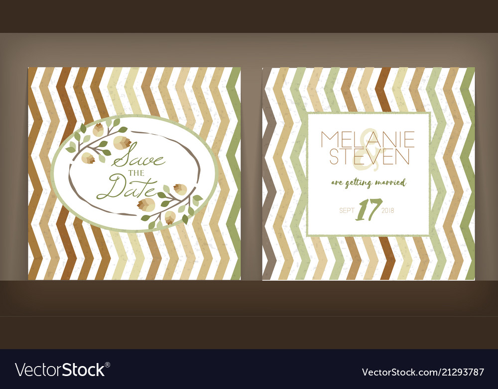 Save the date wedding invitation double-sided