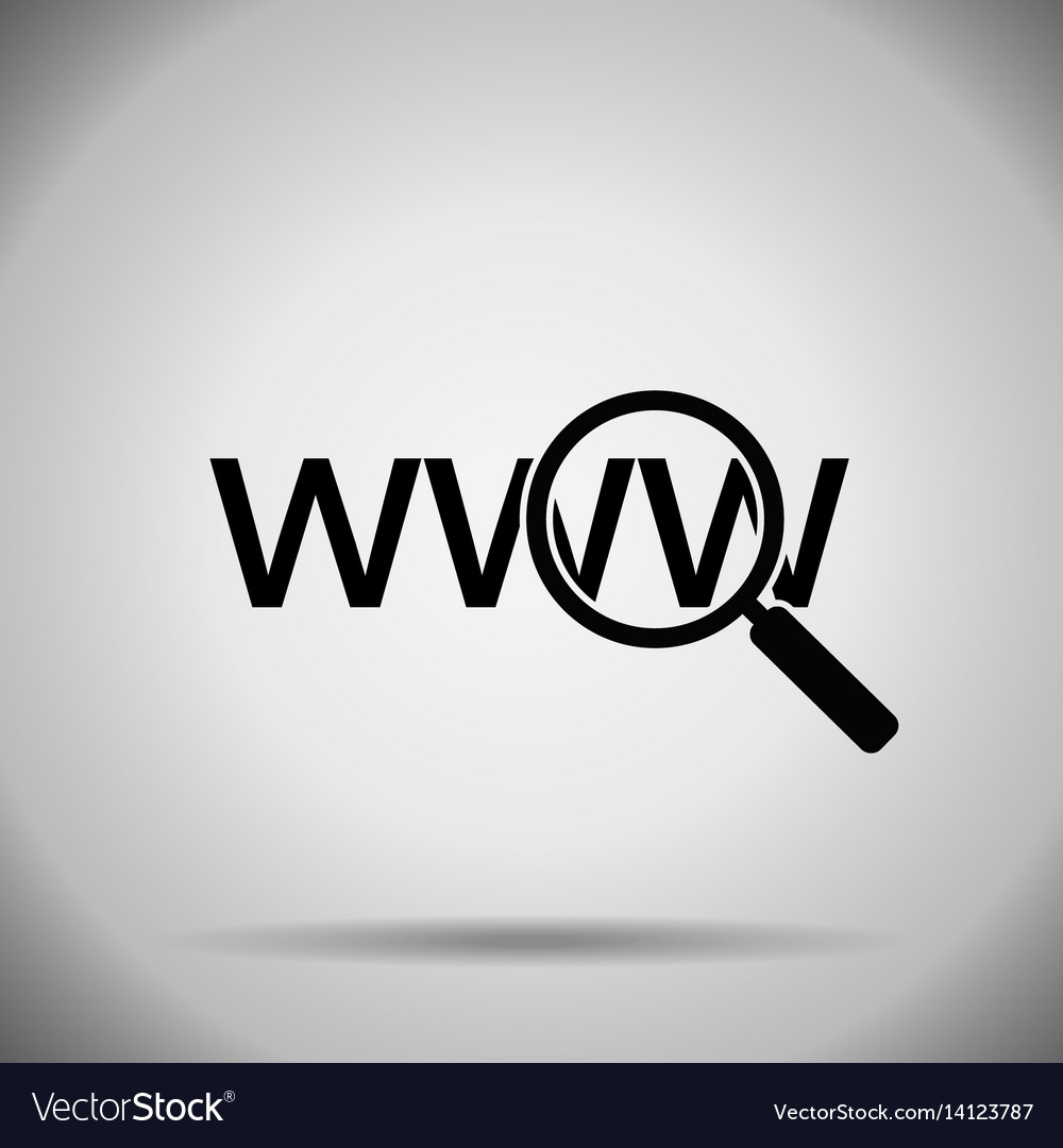 Search in web icon vector image