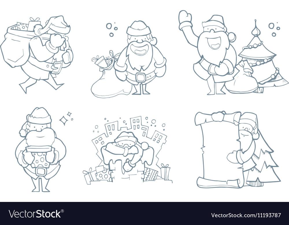 Set of hand drawn Christmas