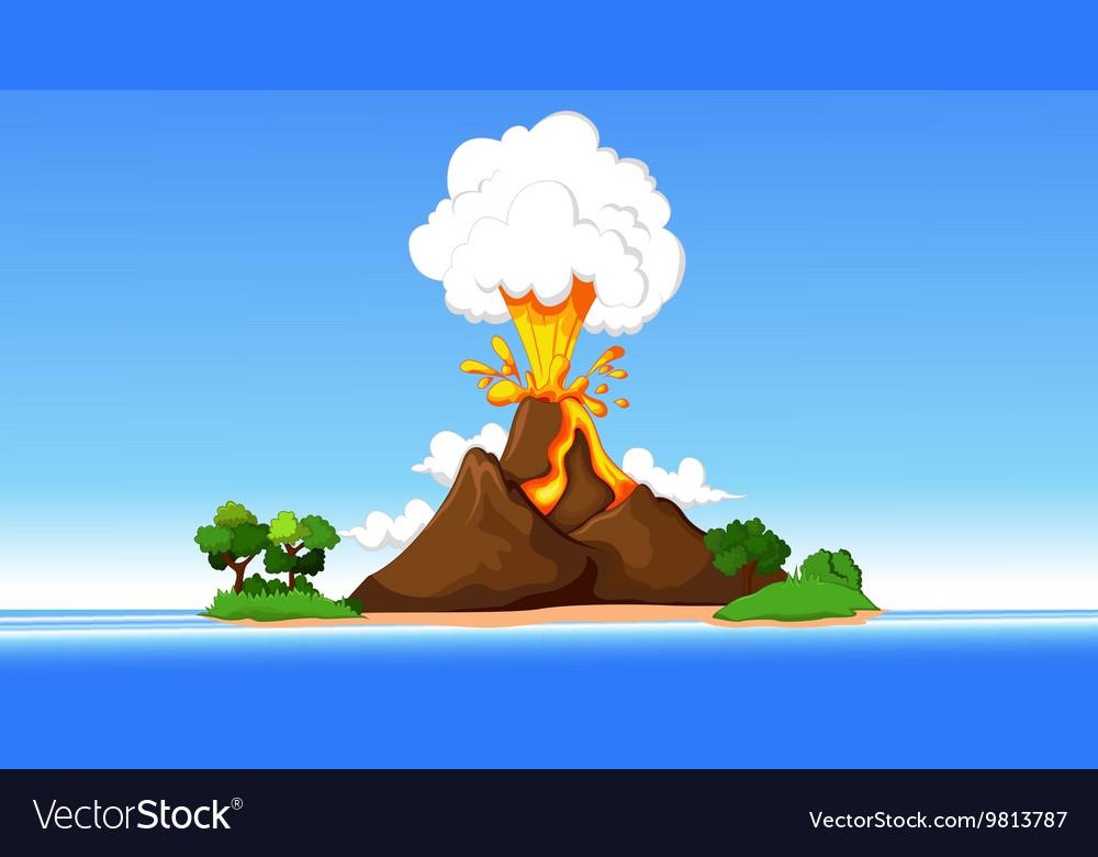 Volcanic eruption cartoon