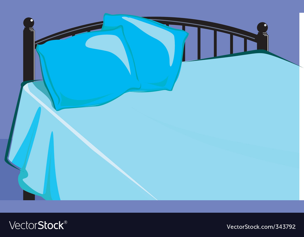 Bed vector image