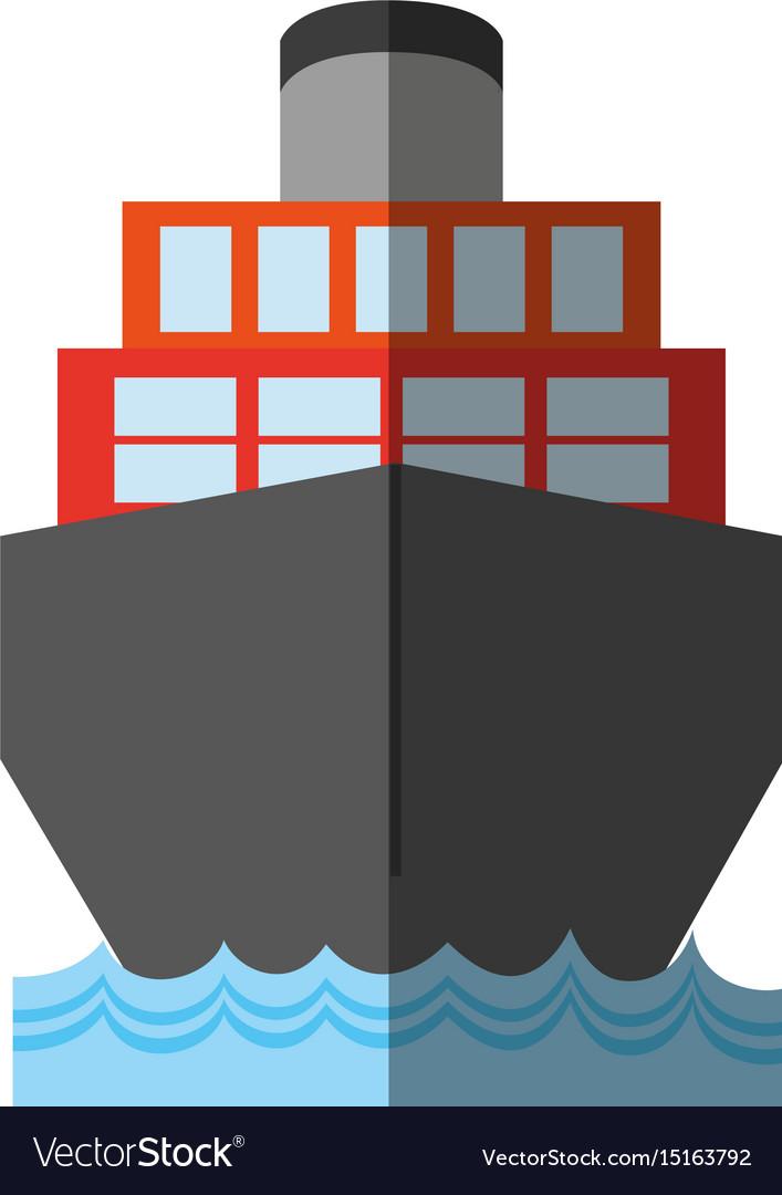 Cargo ship icon imag