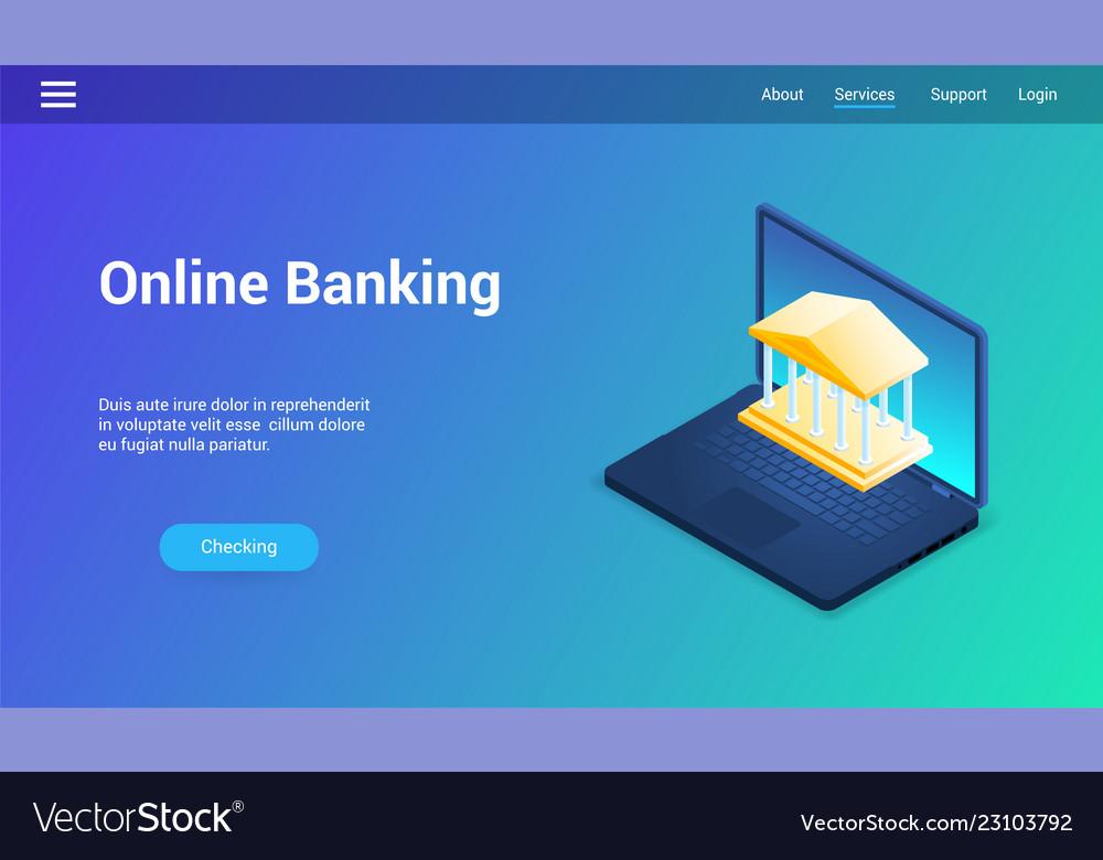 Online banking lp template