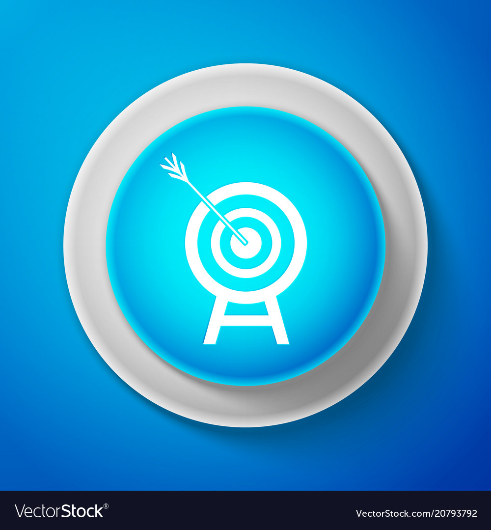 White target with arrow icon dart board sign