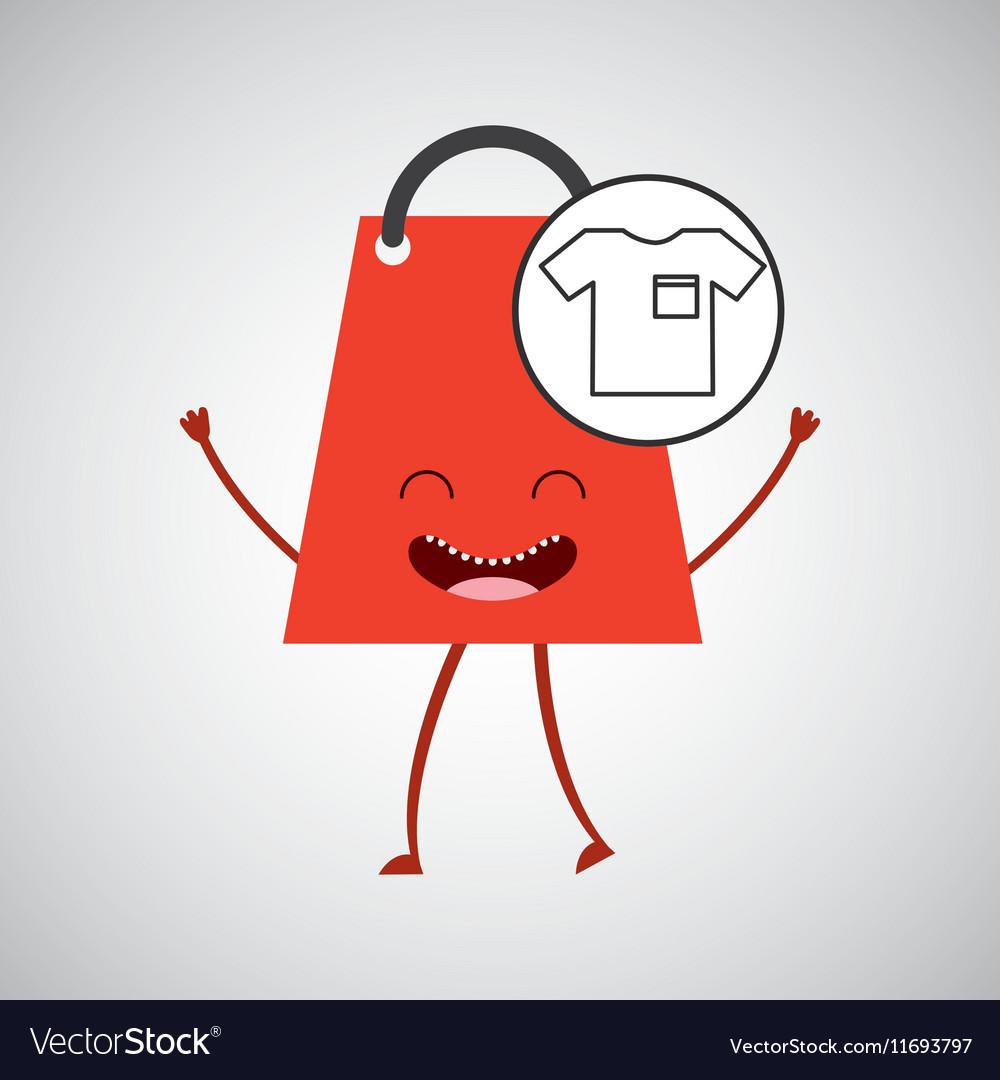 Bag shopping concept tshirt commerce design