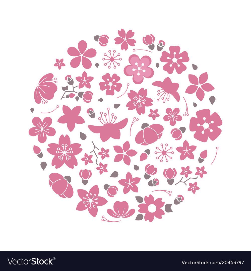 Blossom flowers logo isolated on white background