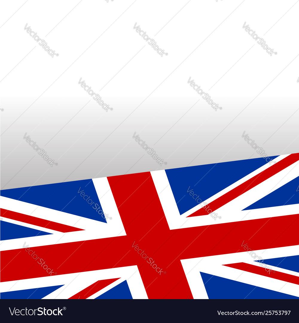 British flag frame background