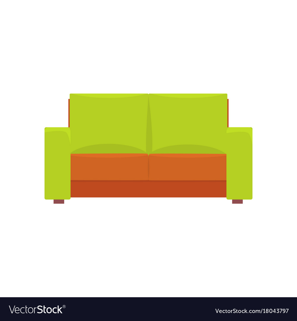 Green modern sofa living room or office interior