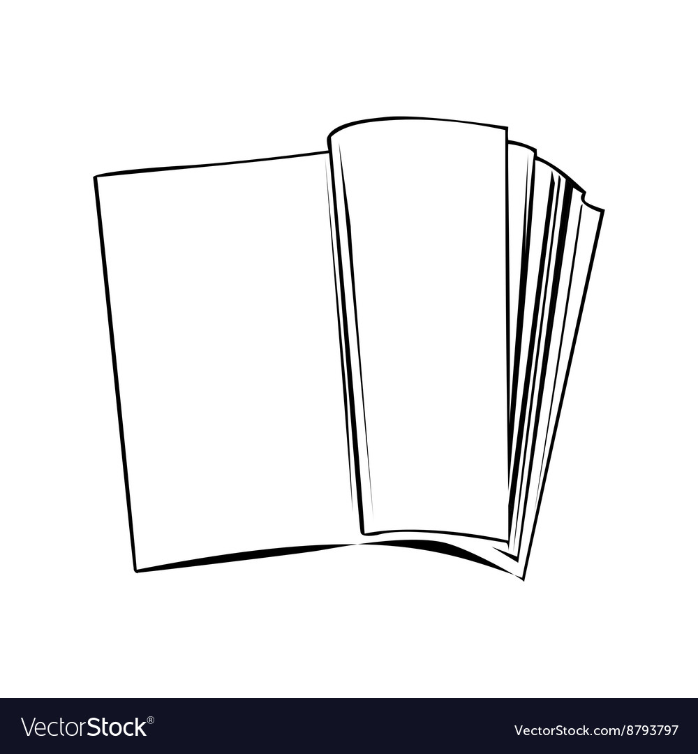 Open book banner isolated of white background