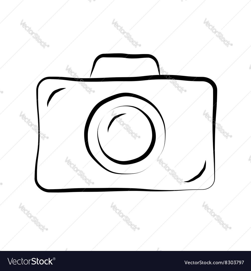 Photo camera doodle icon 1