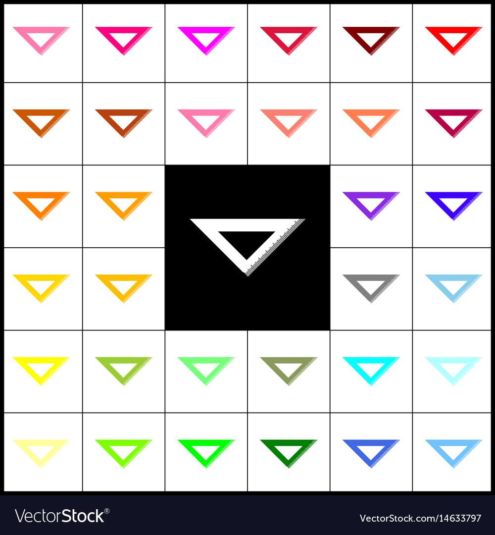 Ruler sign felt-pen 33 vector image