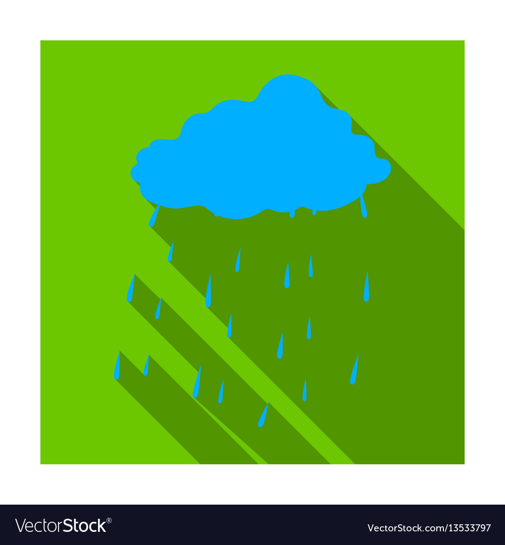 Scottish rainy weather icon in flat style isolated
