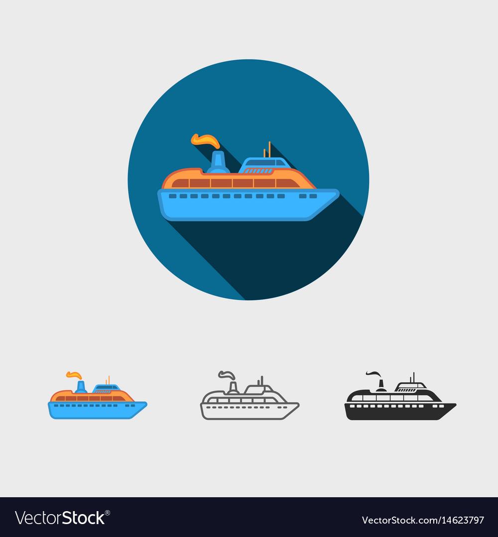 Ship modern icon