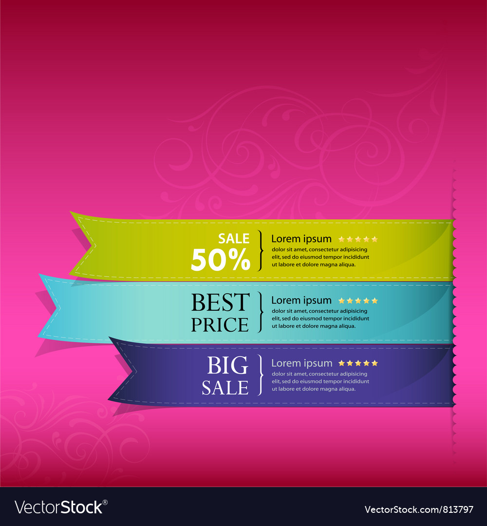 Show colorful ribbon promotional
