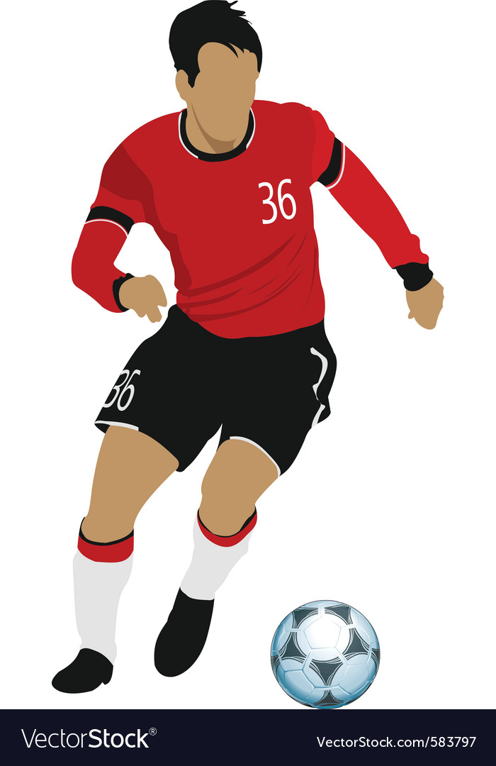 Soccer Player Royalty Free Vector Image Vectorstock