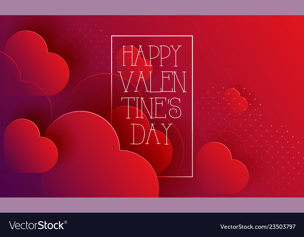 Valentines day hearts love red abstract background
