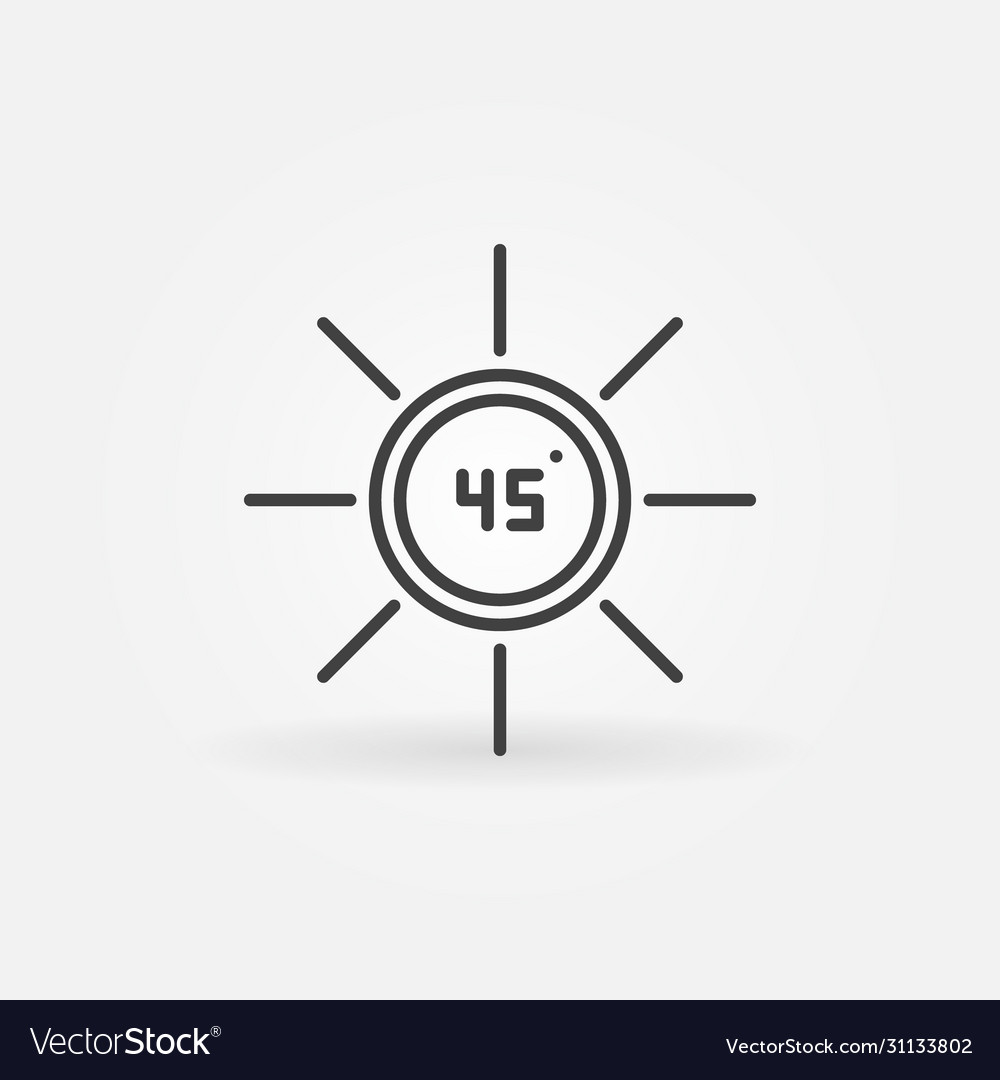 45 degrees outline concept icon or design