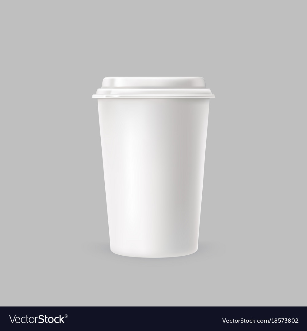 A white plastic cup for