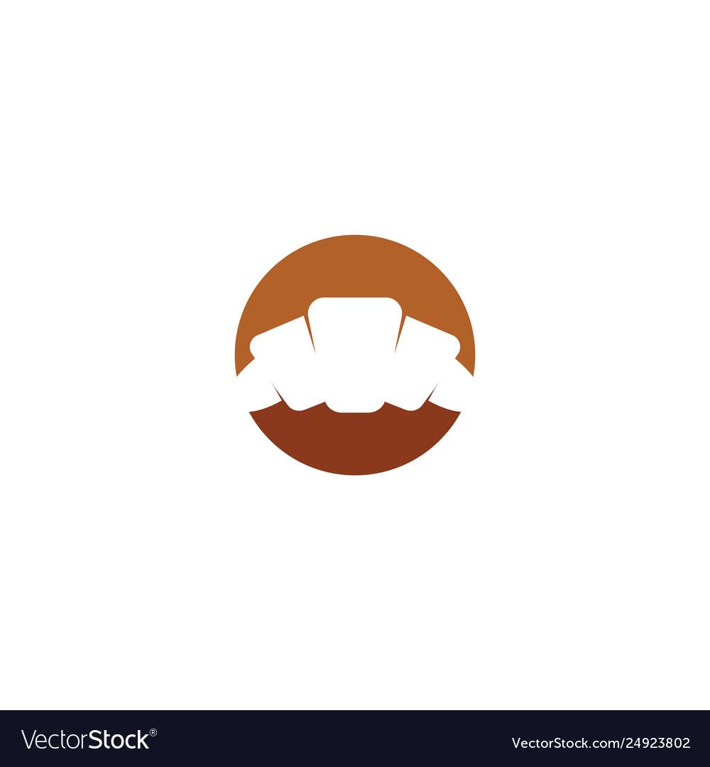 Croissant logo design sign element