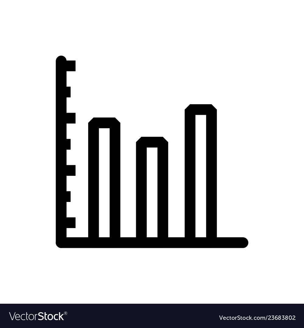 Graph icon in trendy flat style isolated on grey