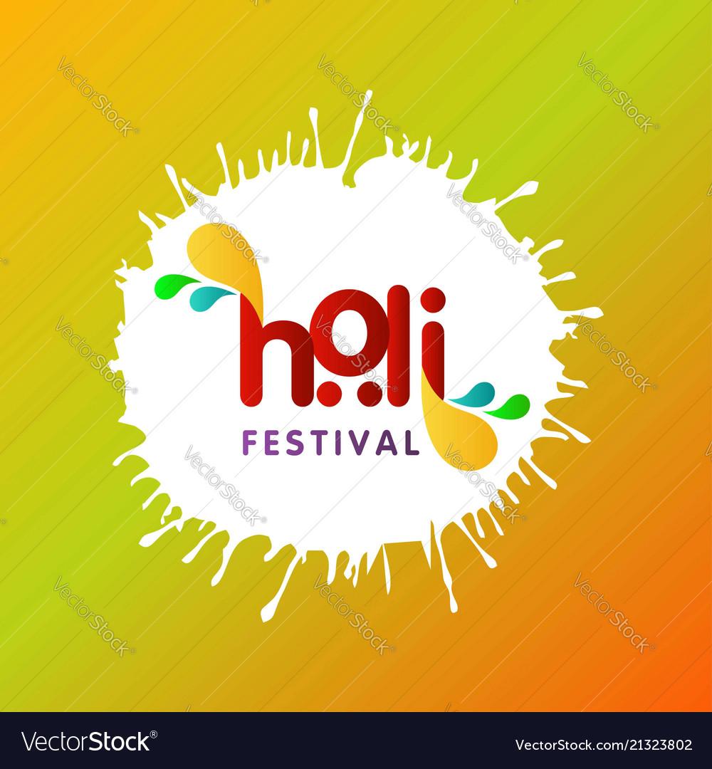 Happy holi festival the festival of colors