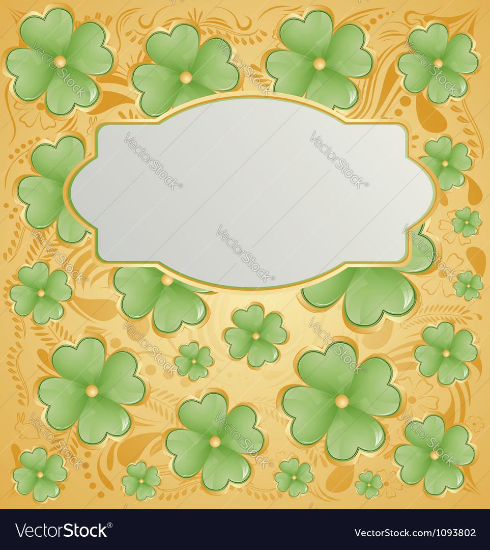 Retro background for St Patrick Days