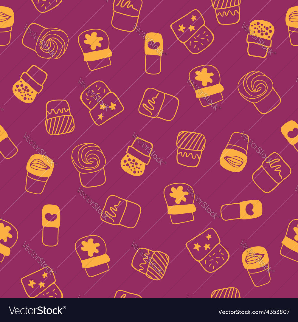 Background with sweets for cook books or wrapping