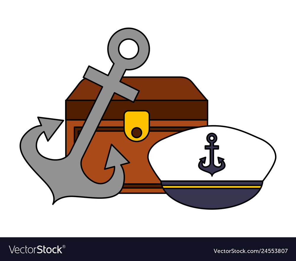 Chest anchor and hat nautical image